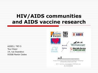 HIV/AIDS communities  and AIDS vaccine research