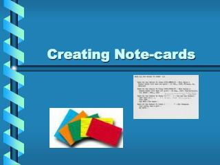 Creating Note-cards