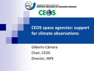 CEOS space agencies: support for climate observations