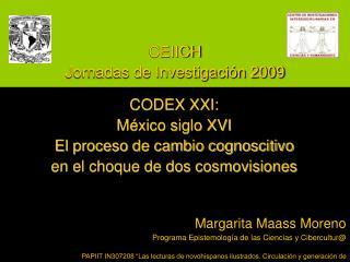 CEIICH Jornadas de Investigaci n 2009
