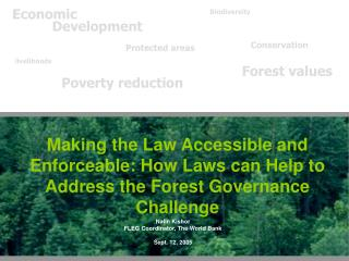 Making the Law Accessible and Enforceable: How Laws can Help to Address the Forest Governance Challenge