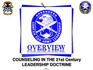 COUNSELING IN THE 21st Century LEADERSHIP DOCTRINE