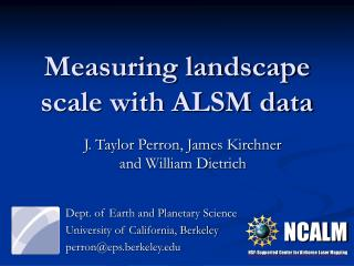 Measuring landscape scale with ALSM data