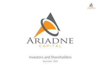 Investors and Shareholders November  2010