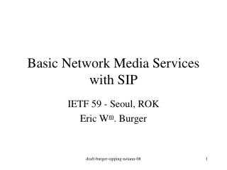 Basic Network Media Services with SIP
