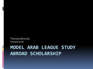 Model  arab  league study abroad scholarship