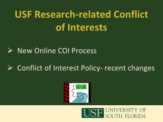 USF Research-related Conflict of Interests
