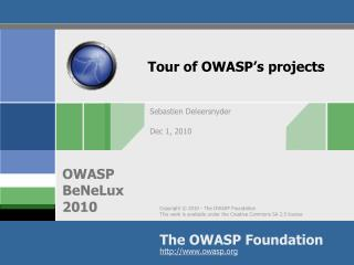Tour of OWASP�s projects