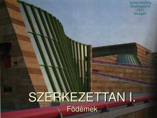 SZERKEZETTAN I. Födémek