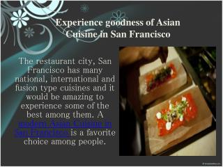 Asian Restaurant San Francisco