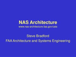 NAS Architecture nas-architecture.faa/cats
