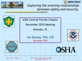 Exploring the evolving relationships  between safety and security.