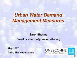 Urban Water Demand Management Measures