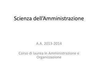 Scienza dell'Amministrazione