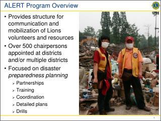 ALERT Program Overview