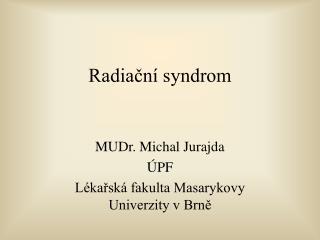 Radiační syndrom