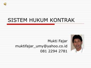 SISTEM HUKUM KONTRAK