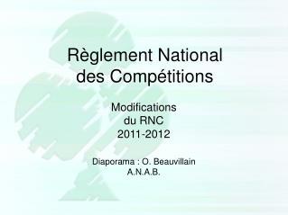 Règlement National des Compétitions