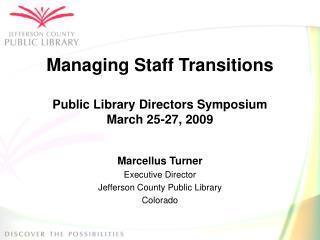Managing Staff Transitions