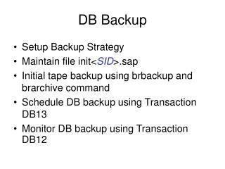 DB Backup