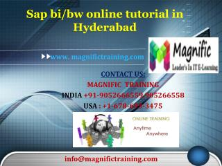 Sap bi/bw online tutorial in Hyderabad
