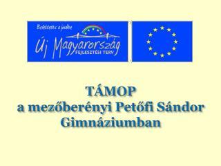 TÁMOP a  mezőberényi  Petőfi Sándor Gimnáziumban
