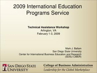 2009 International Education Programs Service