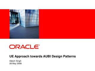 UE Approach towards AUBI Design Patterns
