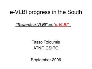 e-VLBI progress in the South