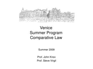 Venice  Summer Program Comparative Law