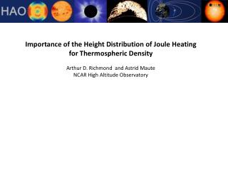 Importance of the Height Distribution of Joule Heating  for Thermospheric Density