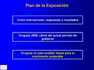 Plan de la Exposici�n