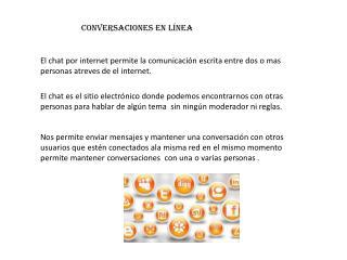 Conversaciones en línea