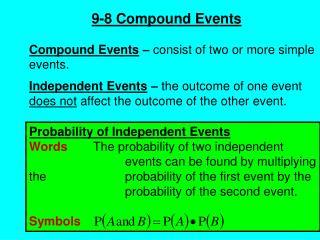 9-8 Compound Events