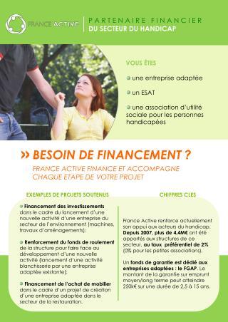 une entreprise adaptée  un ESAT  une association d'utilité sociale pour les personnes handicapées