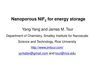 Nanoporous NiF 2  for energy storage