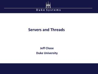 Servers and Threads