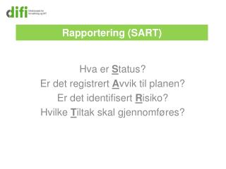 Rapportering (SART)