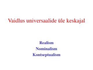 Vaidlus universaalide üle keskajal