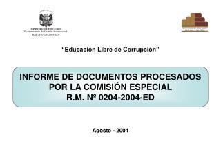 Educaci n Libre de Corrupci n