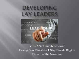 Developing  Lay Leaders