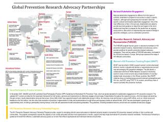 Global Prevention Research Advocacy Partnerships