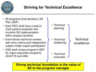 Striving for Technical Excellence