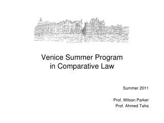 Venice Summer Program in Comparative Law