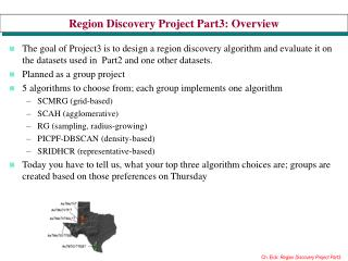 Region Discovery Project Part3: Overview