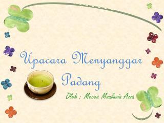 Upacara Menyanggar  Padang