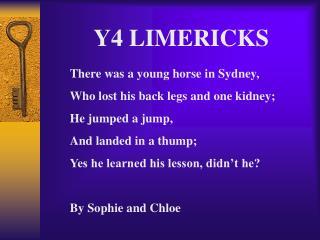 Y4 LIMERICKS