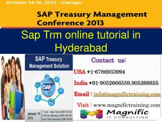 Sap trm online tutorial in hyderabad