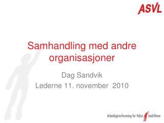 Samhandling med andre organisasjoner