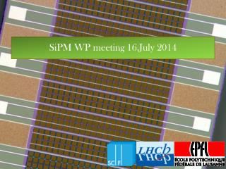SiPM  WP meeting 16.July  2014